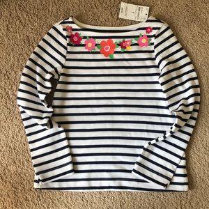 Lands end size 4 stripped shirt